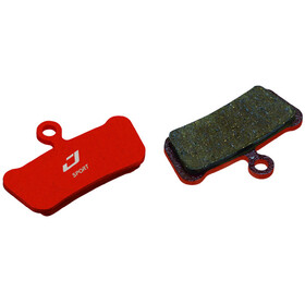 Jagwire Disc Sport Semi-Metallic Brake Pads For SRAM Guide RSC / RS / R and Avid Trial grey/red